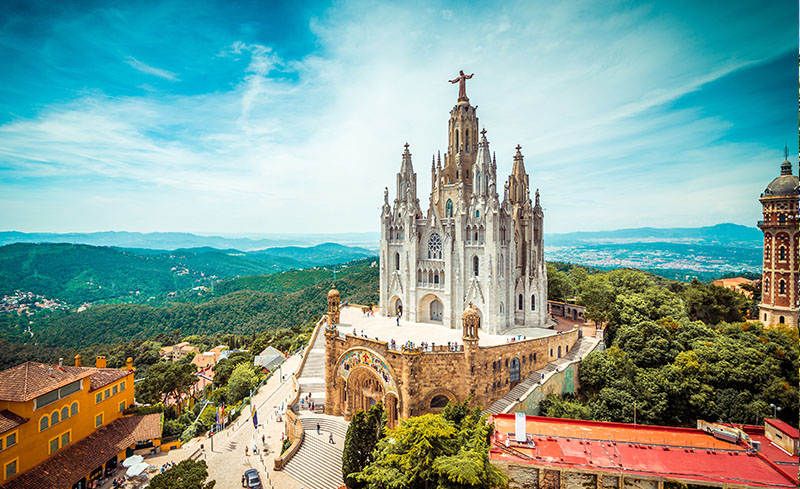 Church Of The Sacred Heart At Tibidabo Hill In Barcelona