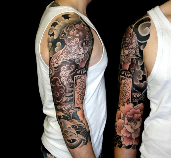36+ Japanese Lion Tattoos, Designs & Ideas
