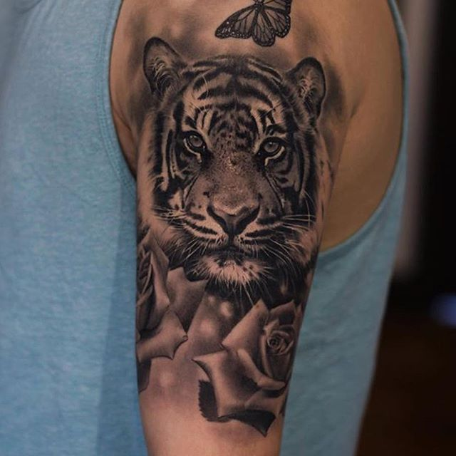 100 best tiger tattoos designs ideas with meanings for Tiger tattoo face