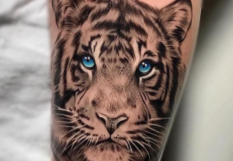 100 best tiger tattoos designs ideas with meanings for Small tiger tattoos