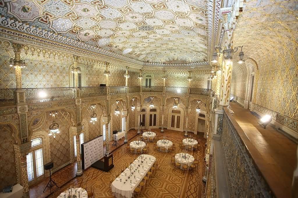 Dining Room Inside The Palácio da Bolsa In Porto