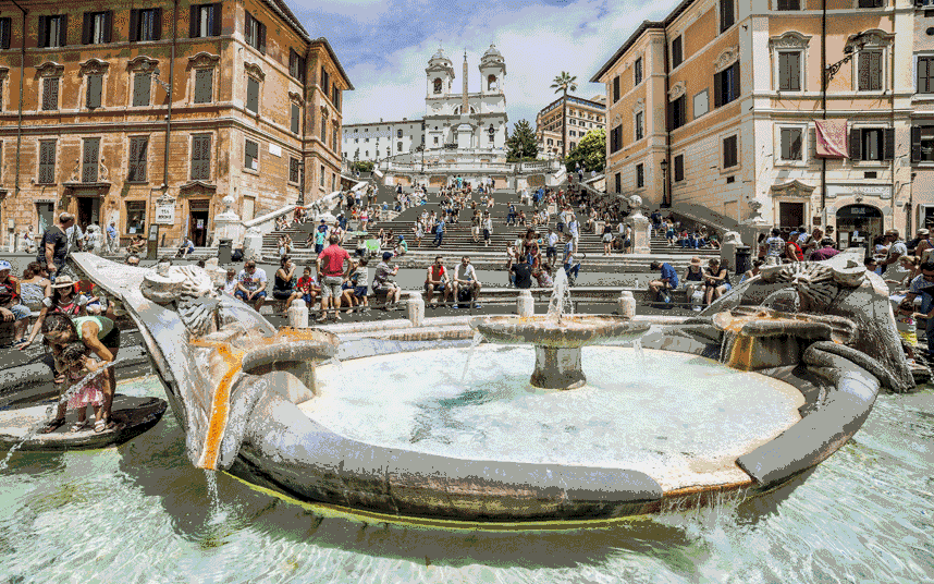 Fountain On The Foot Of Spanish Steps