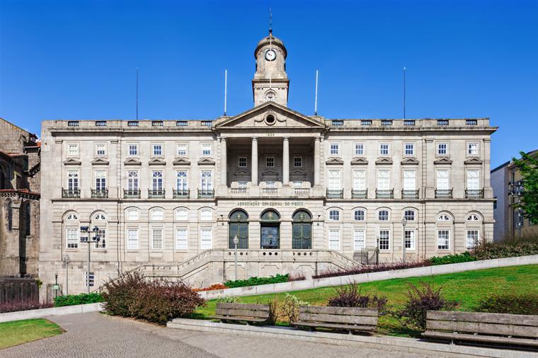 Front Facade Of The Palácio da Bolsa