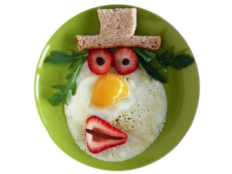 Funny Girl Face Food Picture