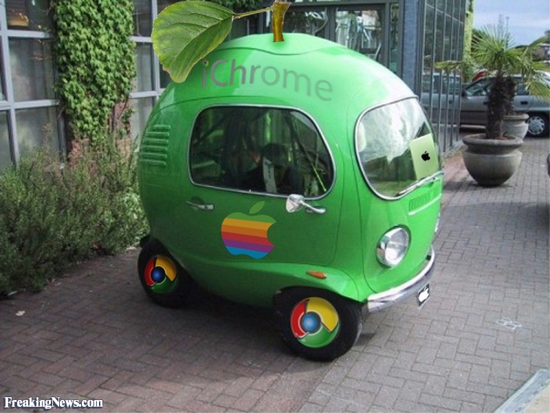 Funny iChrome Apple Shaped Car