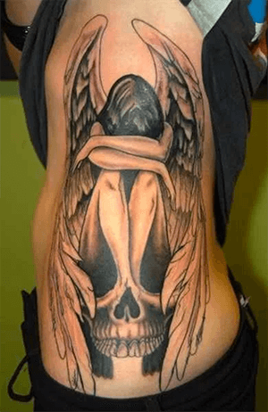 40 Best Angel Of Death Tattoos & Designs With Meaning