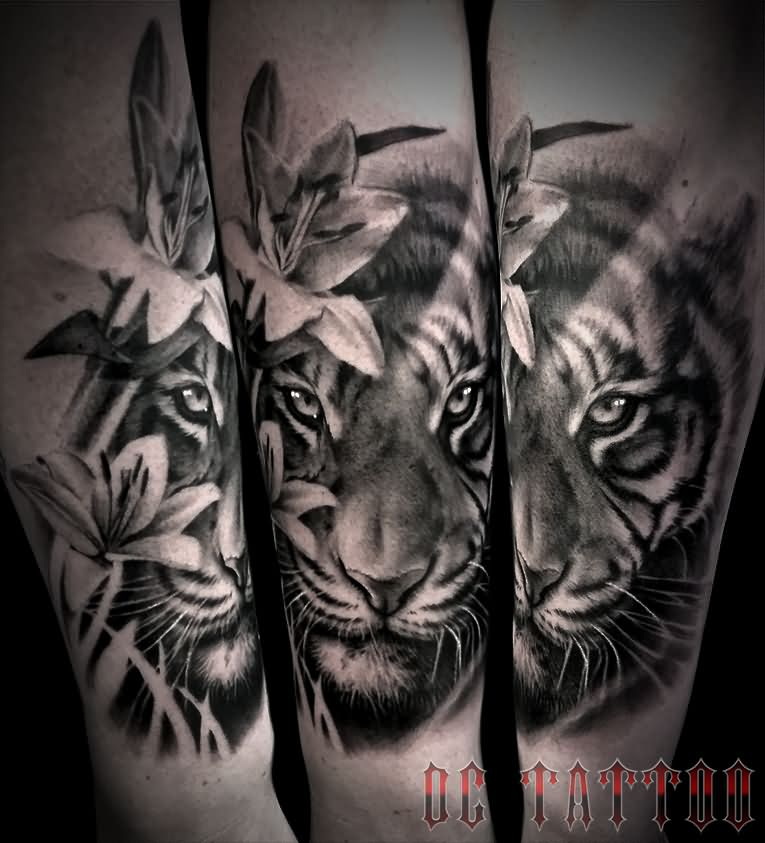 Tiger Tattoos And Flower: 100+ Best Tiger Tattoos, Designs & Ideas With Meanings