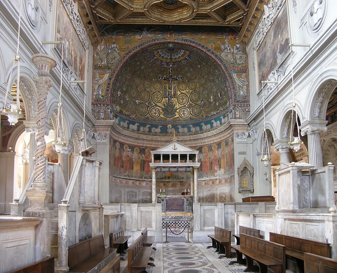 Incredible Inside View Of San Clemente Church in Rome