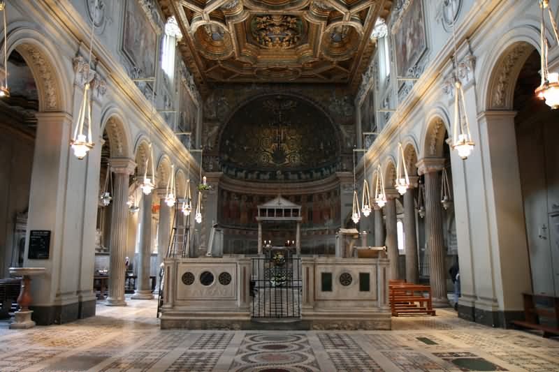 Inside The Basilica of San Clemente In Rome