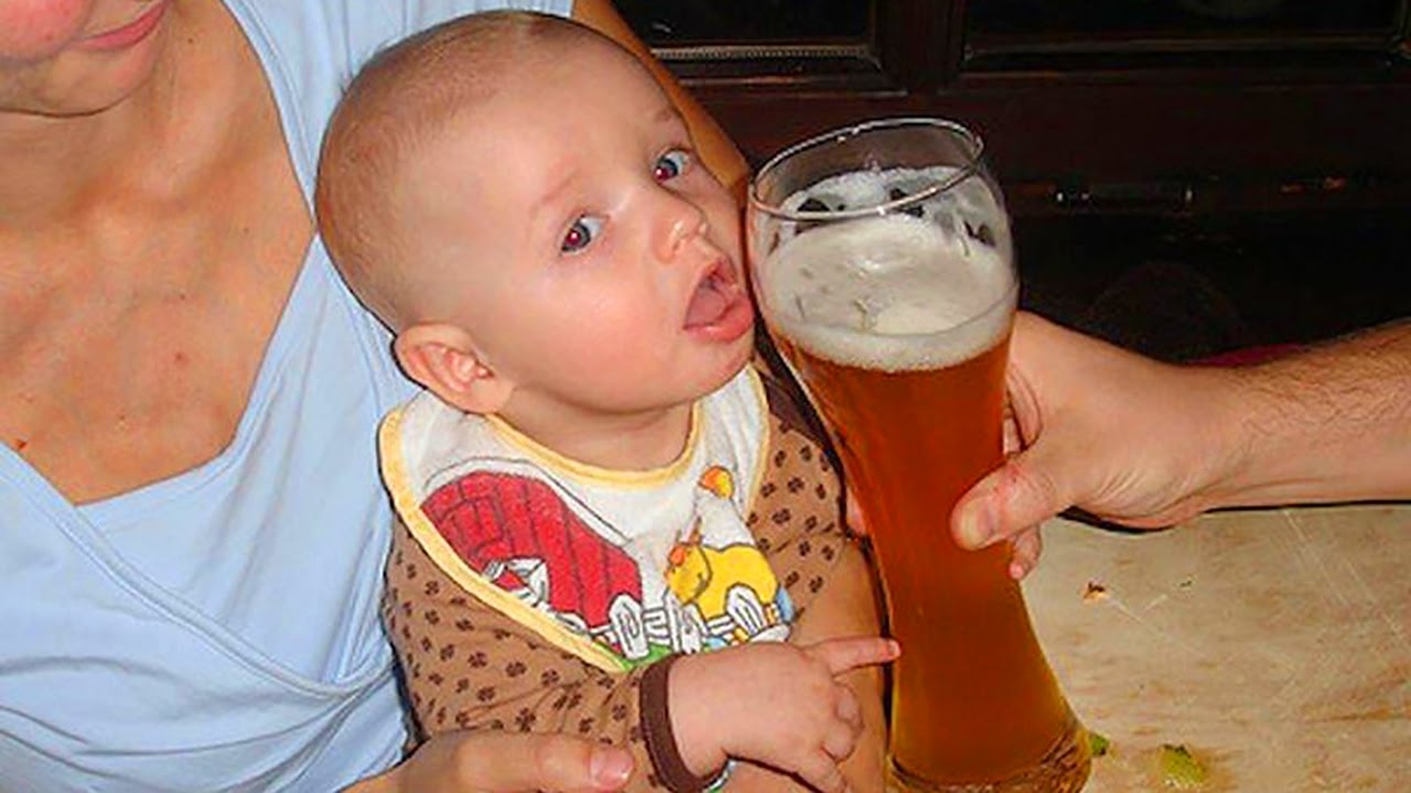 Kid Wanna Drink Beer Funny Picture