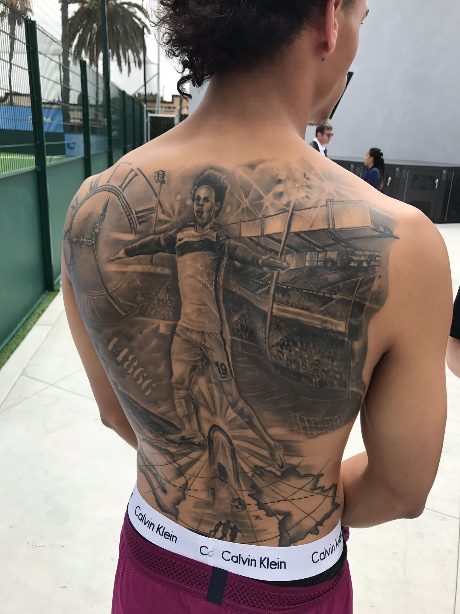 Amazing Leroy Sane's Tattoo Of Himself