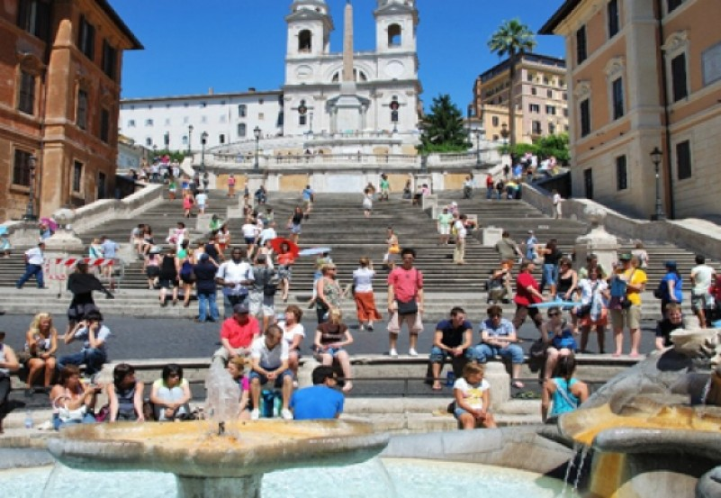 People On The Spanish Steps