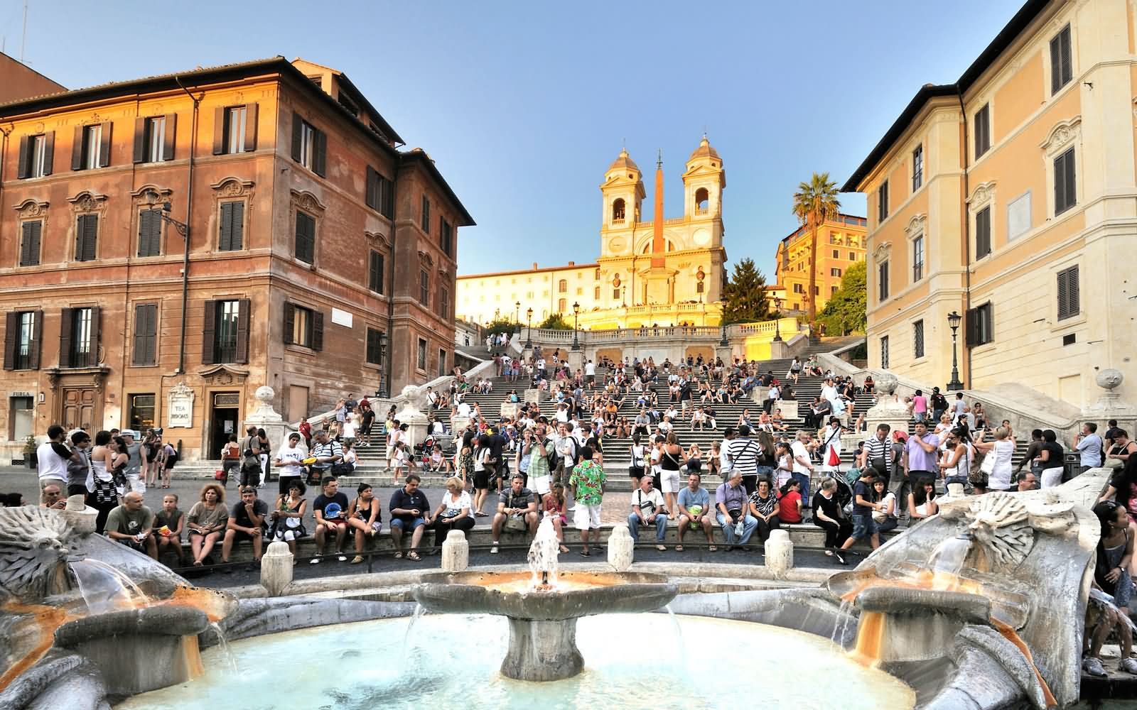 People Sitting on The Spanish Steps
