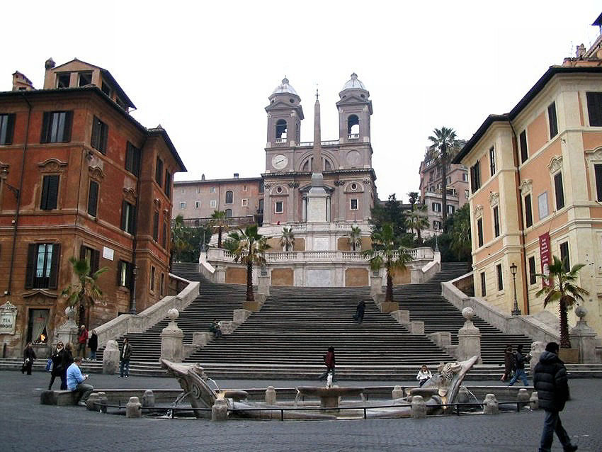 Piazza di Spagna And Spanish Steps Beautiful View