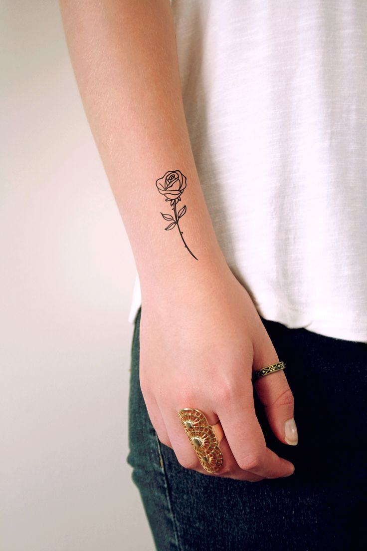 dress - Wrist Rose tattoos for women pictures video