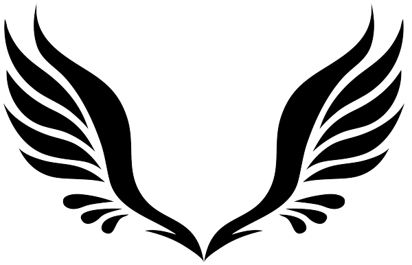 tribal angel wings tattoo design. Black Bedroom Furniture Sets. Home Design Ideas