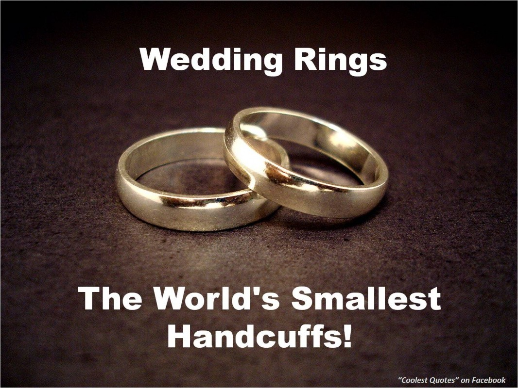 Wedding Rings The World S Smallest Handcuffs Funny Marriage Picture