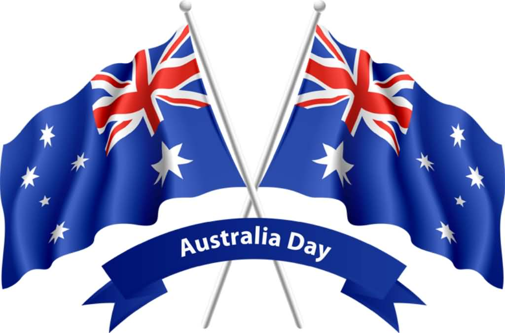 Australia Day Australian Flags Cross Clipart