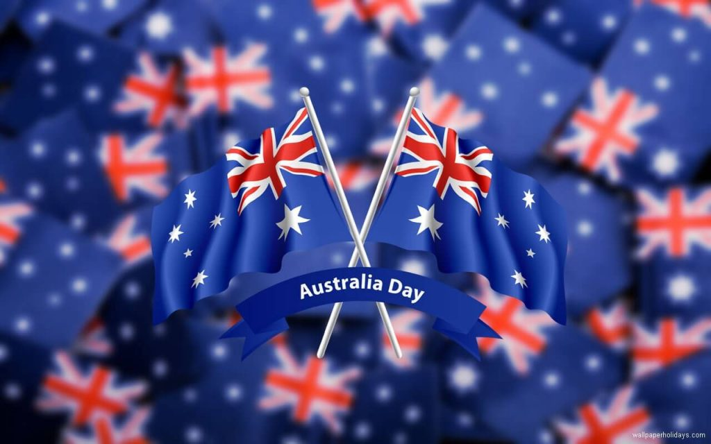 Australia Day Cross Flags Picture