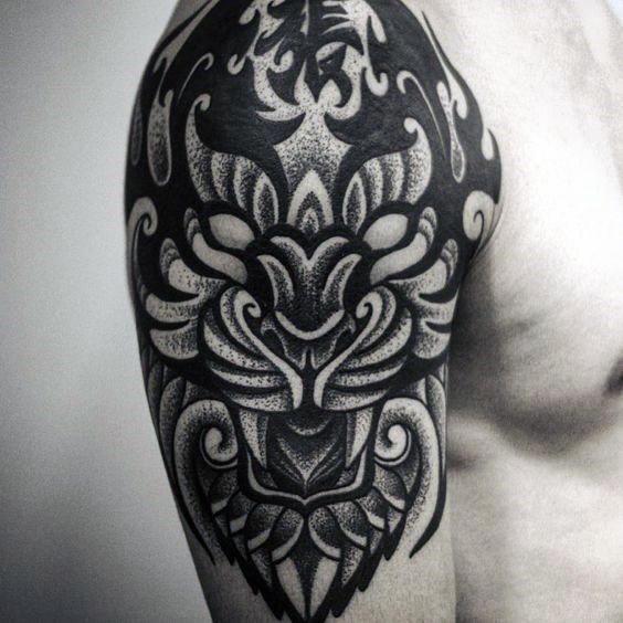 Tribal Tiger By Ruttan On Deviantart: 35+ Best Tribal Tiger Tattoos & Designs