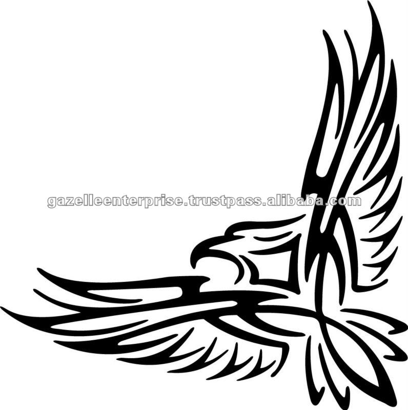 Eagle Tattoo Line Drawing : Amazing tribal eagle tattoos designs with meanings