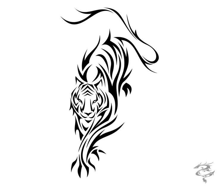 35 best tribal tiger tattoos designs. Black Bedroom Furniture Sets. Home Design Ideas