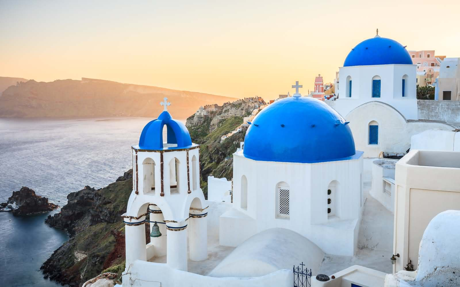 45+ Most Beautiful Blue Dome Church In Greece Pictures And Images