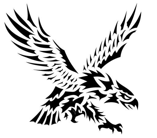 Celtic Tribal Flying Eagle Tattoo Design