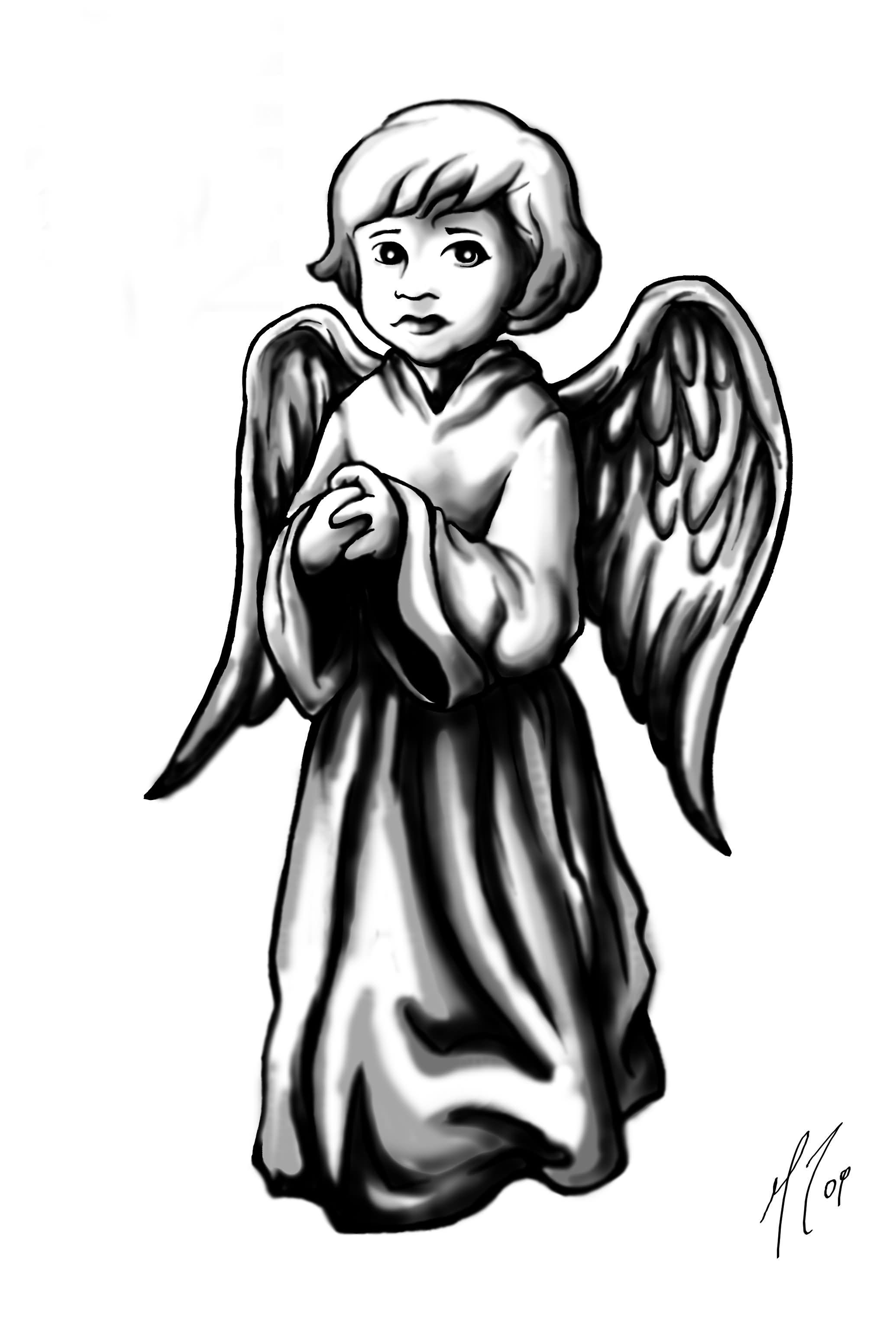 Тату ангелочка картинки