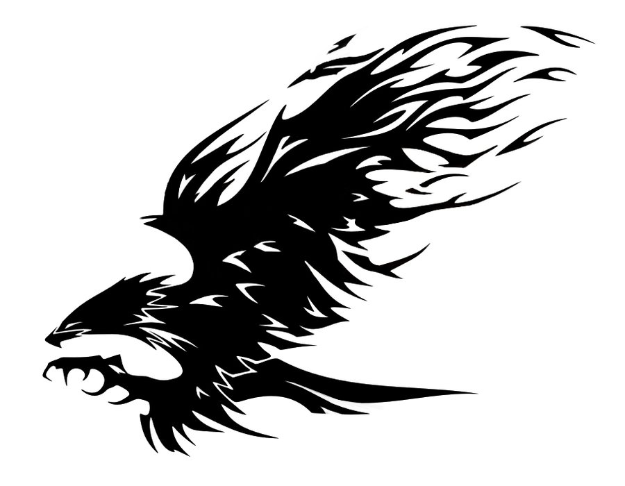 d9ae9c185 Dark Black Silhouette Tribal Eagle Tattoo by PhelanDavion on DeviantArt