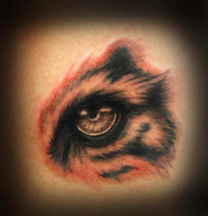 Eye Of Tiger Tattoo Design