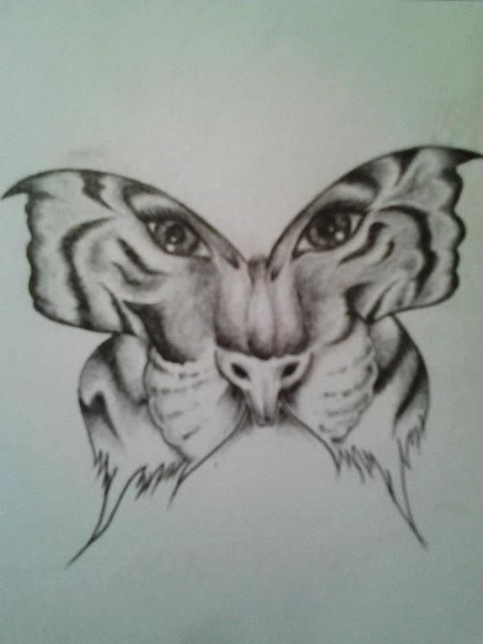 e870f09f8 Grey Ink Incredible Tiger Butterfly Tattoo Design by NuNuKirsty on  DeviantArt