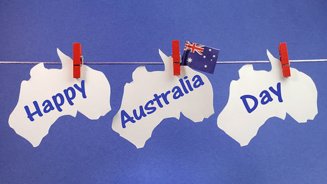 Happy australia day hanging greeting card m4hsunfo