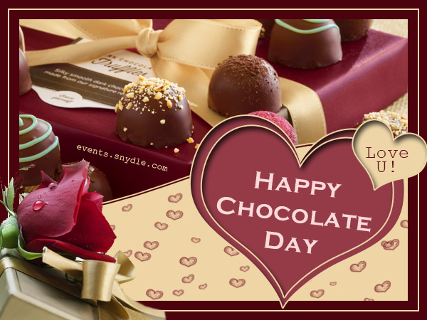 Happy chocolate day love you greeting card m4hsunfo