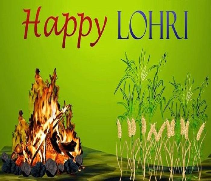 Happy Lohri Bonfire And Wheat
