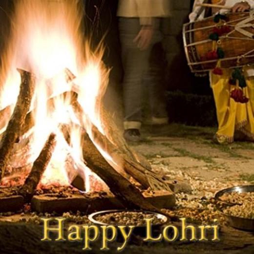 Happy Lohri bonfire Image