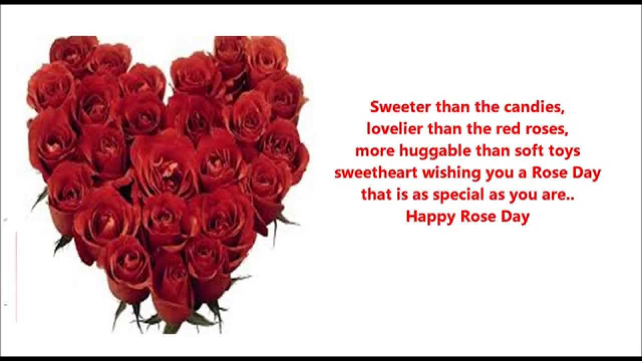 Happy Rose Day Red Roses Heart Bouquet Wallpaper