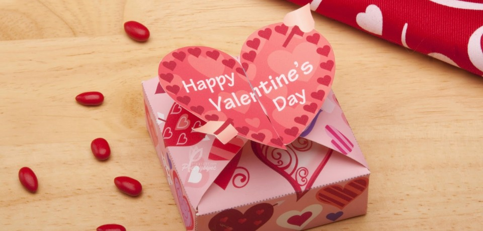 Happy Valentine S Day Heart Greeting Card With Gift Box