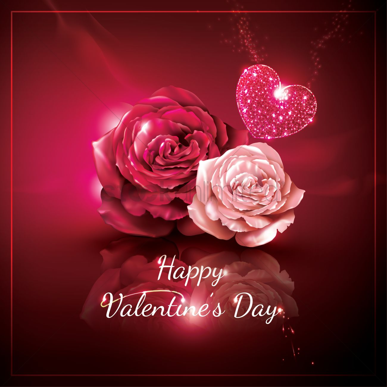 70 most beautiful valentines day greeting pictures and images happy valentines day rose flowers and heart picture kristyandbryce Image collections