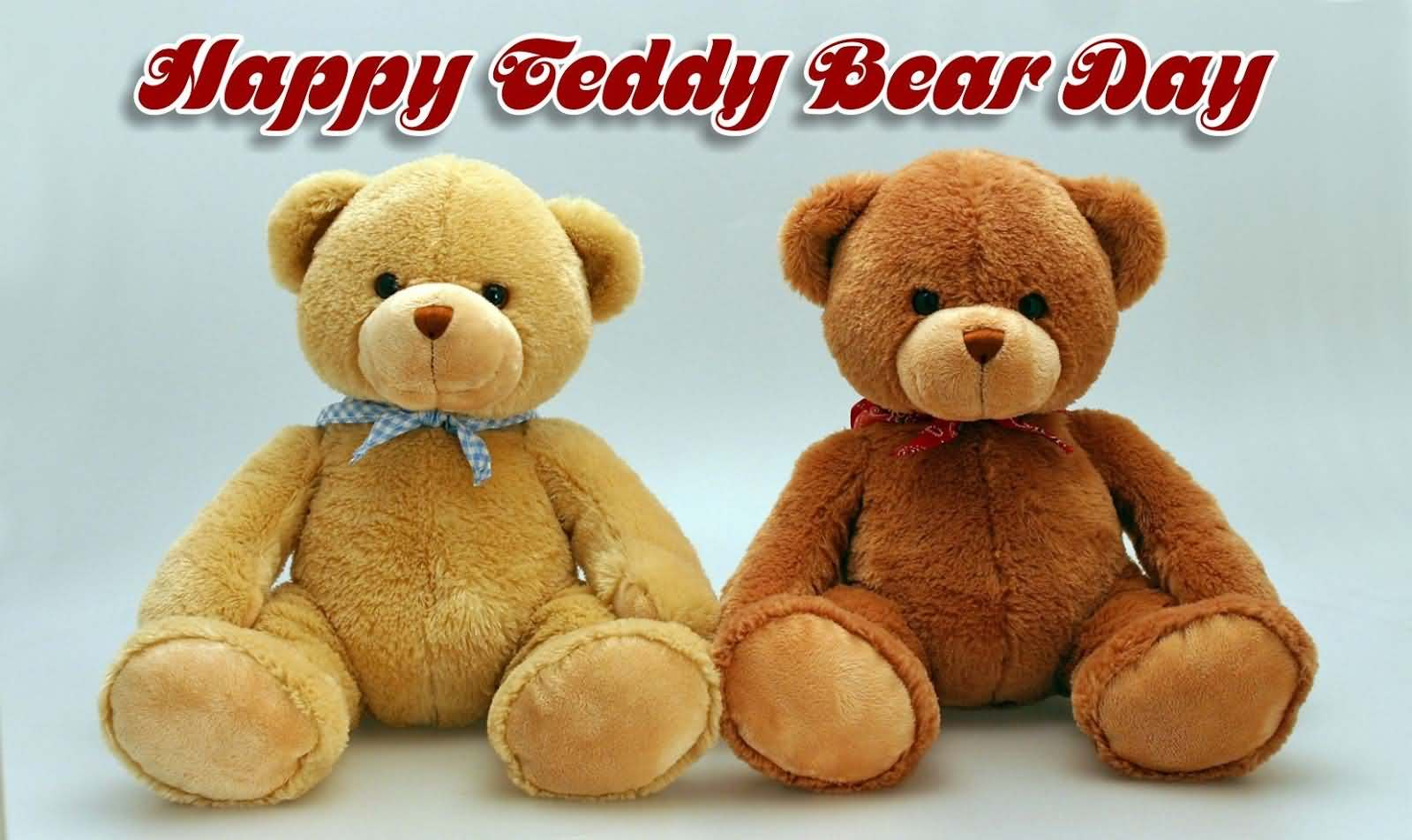 Happy Teddy Bear Day Two Cute Bears Wallpaper
