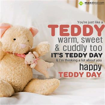 I Am Thinking A Lot About You Happy Teddy Bear Day