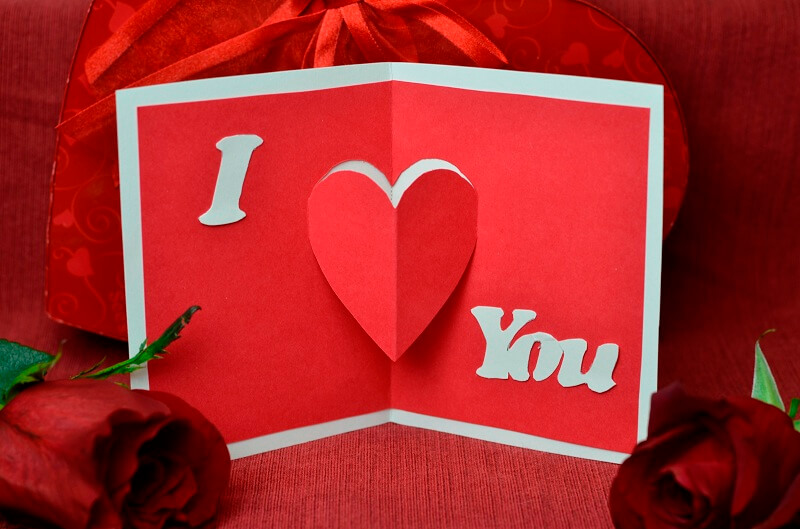 I love you greeting card happy valentines day m4hsunfo