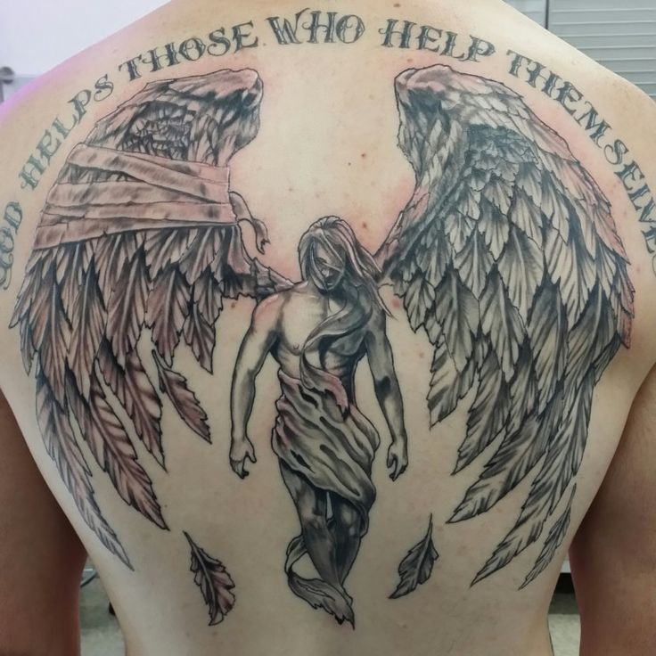 60 Wonderful Fallen Angel Tattoos Designs With Meanings