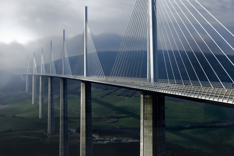 41 Most Beautiful Millau Viaduct Bridge In France Pictures ... |Millau Viaduct Hd
