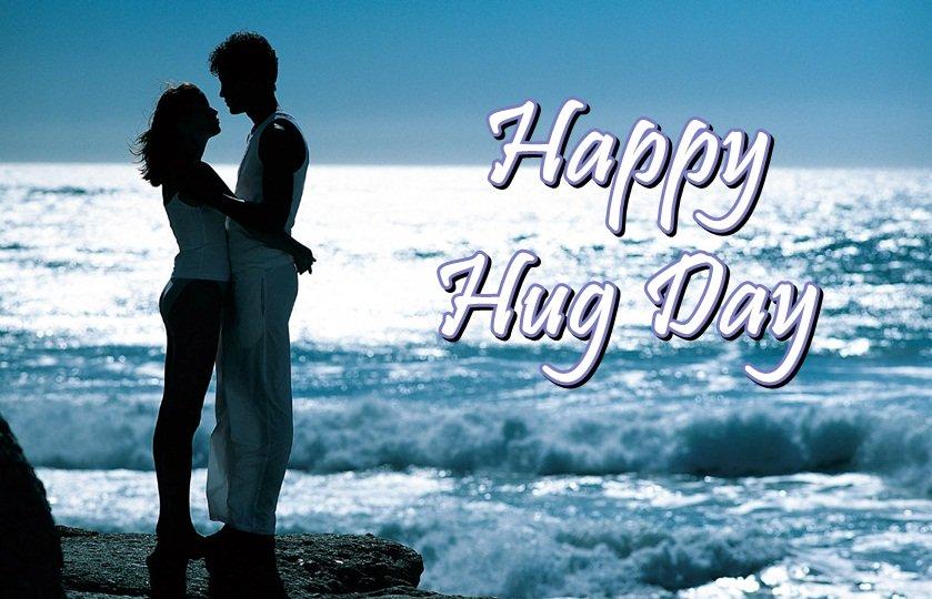 Romantic couple Happy Hug Day picture