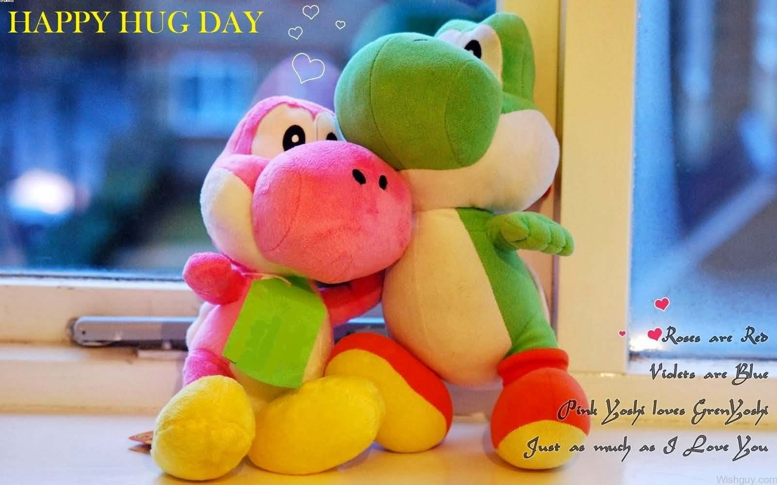 Roses are red violets are blue pink yoshi loves green yoshi just as much as I Love You