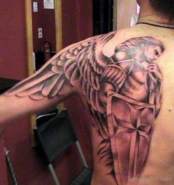 St Michael Back Tattoos