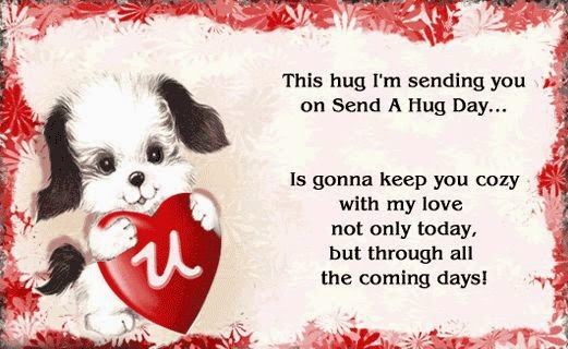 This hug i'm sending you on Happy Hug Day image