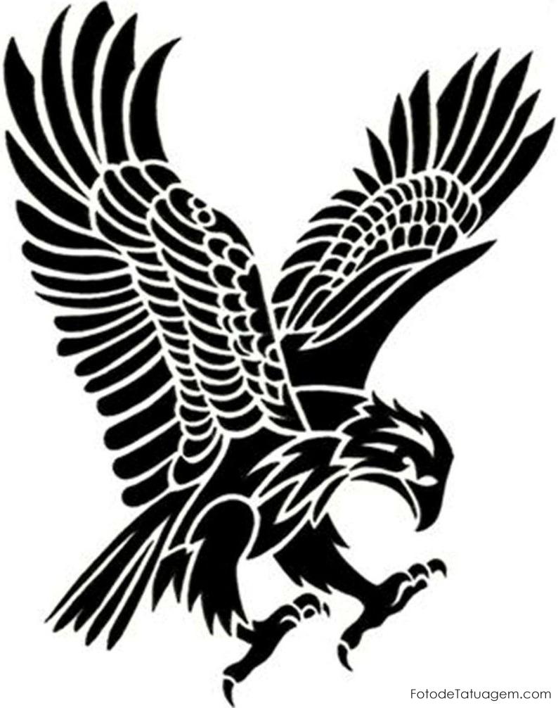Tribal Attacking Eagle Tattoo Design