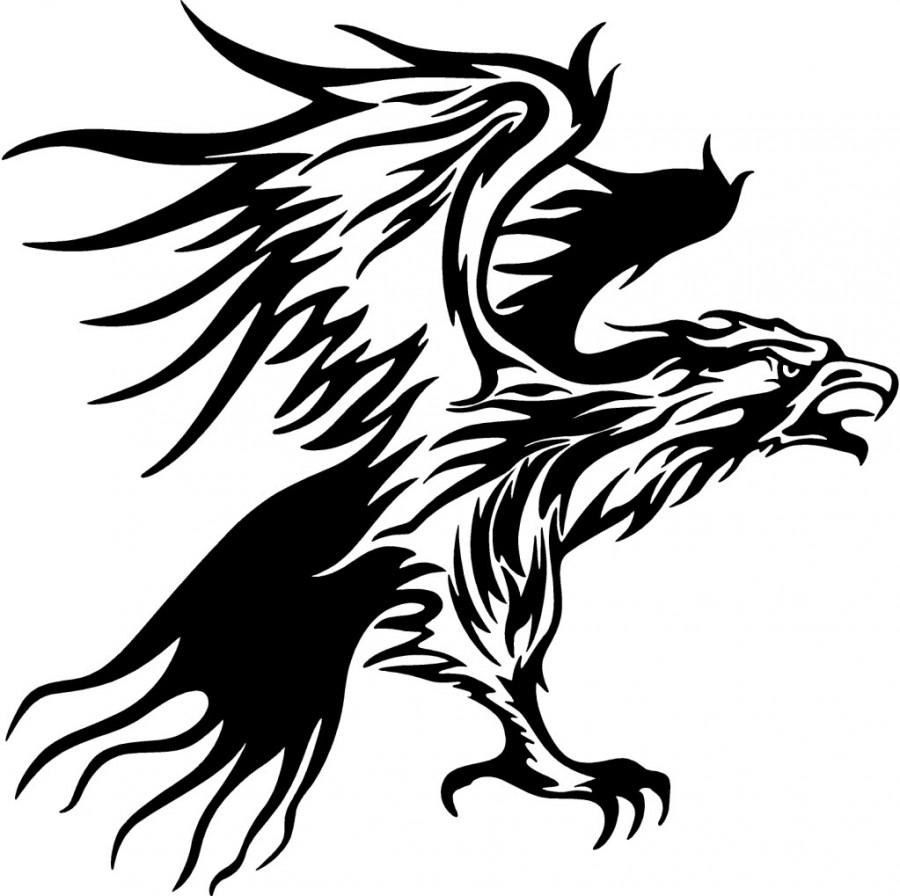 tribal flames eagle tattoo design. Black Bedroom Furniture Sets. Home Design Ideas